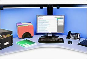 Multiple resources (calendar, policies, manual, form files) built within the workstation